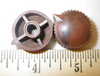 Antique Resin BROWN TUNING KNOB W/ POINTER, Knob