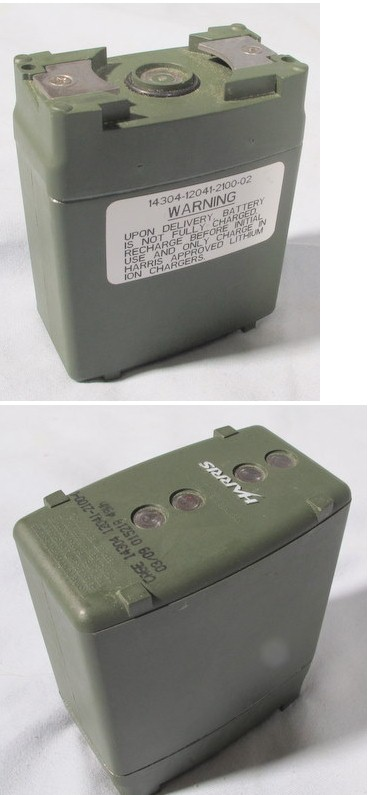 Harris PRC-152 Handheld Lithium Battery 12041-2100-02 Green, in good condition, ships charged, 14304