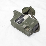 PRC-112 Survival Radio for repair, knob missing, puncture in front